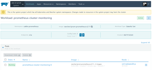 Rancher 2 prometheus-cluster-monitoring